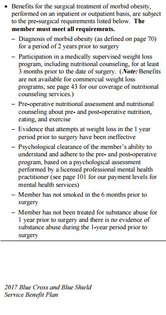 Bariatric Policy Fed BCBS
